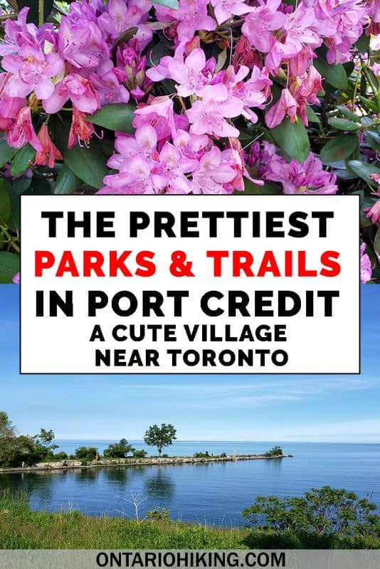 Port Credit is a cute village in Mississauga near Toronto, and it's the perfect day trip from Toronto. There are so many parks and trails to explore along the waterfront. Here are the best parks and paths in Port Credit, the village on Lake Ontario. #Ontario #Toronto #Mississauga #PortCredit #Parks #GreenSpace #Waterfront