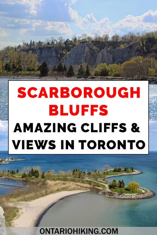 It's one of the most beautiful views in Toronto. Here's how to plan your visit to the Scarborough Bluffs. View these spectacular cliffs from the park (and go to the beach!) and admire the incredible scenery from the top. #Scarborough #Toronto #Ontario #Hiking #Bluffs #Cliffs #LakeOntario
