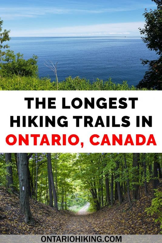 There are so many cool places to hike in Ontario, Canada! I've rounded up the longest and best hiking trails in Ontario (all of them are 100km+). Which one will you attempt first? #Ontario #Hiking #HikingTrails #HikingGoals #Canada
