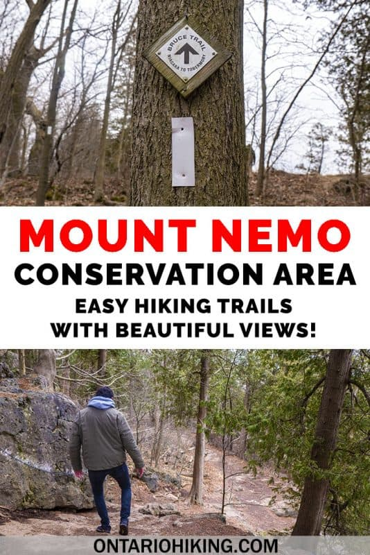 Mount Nemo Conservation Area is a wonderful place to go hiking for a couple of hours in Burlington, Ontario, Canada. There are two easy loop trails and scenic lookouts all along the way. Learn more about this great Ontario hiking trip. #Ontario #Hiking #Hikes #Canada #MountNemo