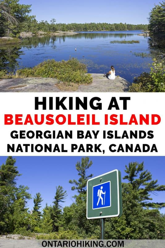 Have you heard of Beausoleil Island? It's part of the Georgian Bay Islands National Park in Ontario, Canada. You can take the Daytripper boat to the island for the day to explore its hiking trails, or you can go camping there, too. It's the perfect place for summer outdoor adventures in Ontario! #Ontario #Canada #OntarioHiking #Hiking #NationalPark