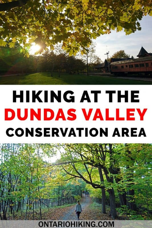 The Dundas Valley Conservation Area offers some of the best hiking in southern Ontario, Canada. There are intriguing old ruins, a Victorian train station, and 40km of hiking trails to explore. #DundasValley #ConservationArea #OntarioHiking #Canada #Ontario #HikingTrails