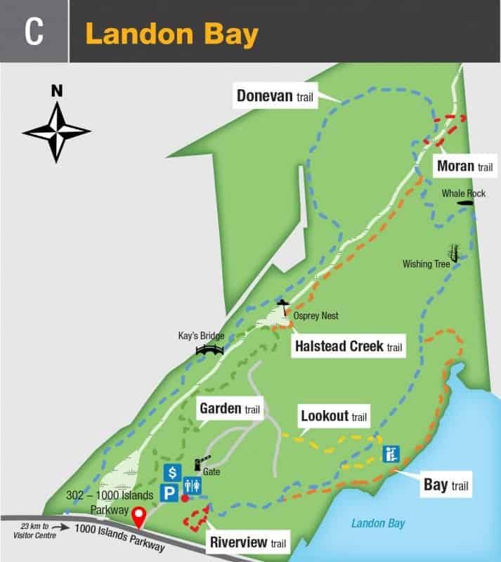 Landon Bay Trail Map