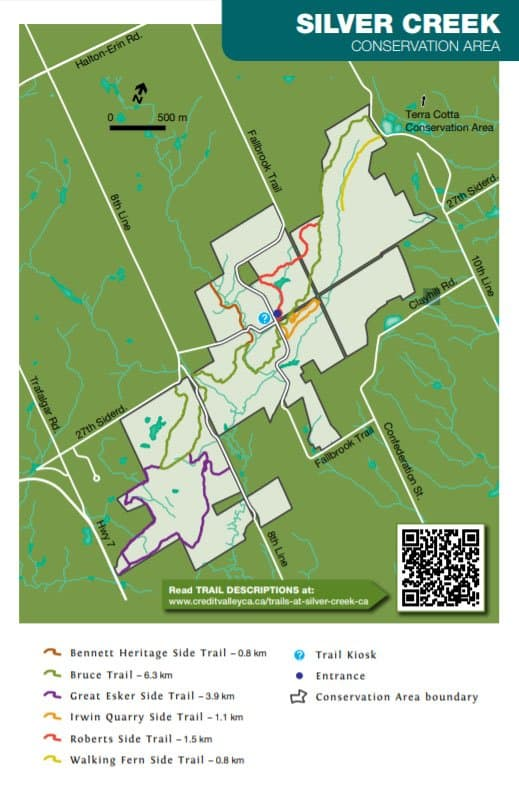 Silver Creek Conservation Area Map of the Hiking Trails