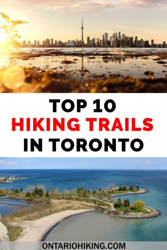 There are the top 10 hiking trails in Toronto for those looking to escape into nature within the city. All of these trails and walking paths are within the city limits of Toronto. There are lots of places to hike in Toronto, Canada! #Toronto #Ontario #Canada #Hiking #HikingTrails #Nature