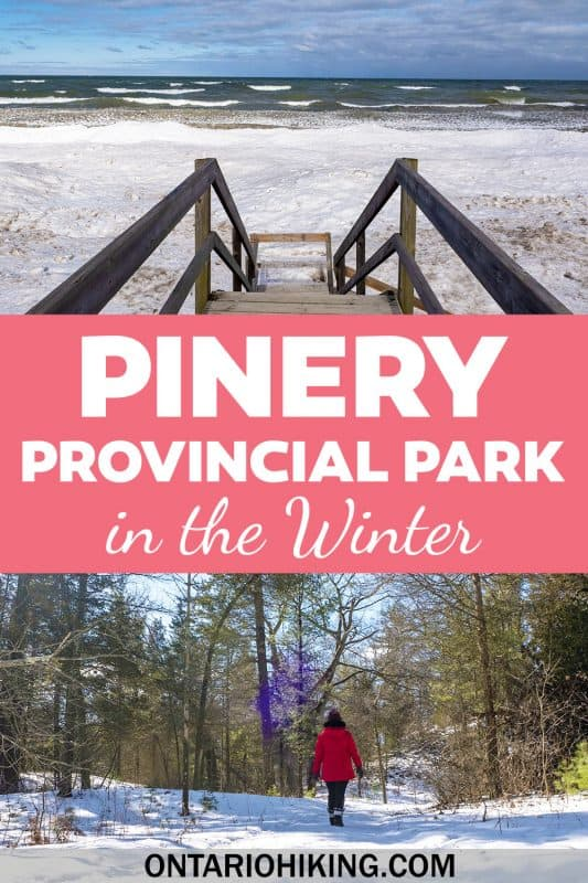 Pinery Provincial Park is such an amazing place to visit in the winter. It's one of the best places to hike in Ontario this winter. You can also go snowshoeing, cross-country skiing, and stay in a winterized yurt. What an amazing adventure in Ontario, Canada!