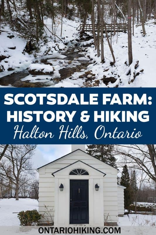 Scotsdale Farm is a beautiful place to go hiking and learn a little bit of local history, too. These hiking trails in Halton Hills, Ontario, are along the Bruce Trail and its side trails. They're gorgeous all year long!
