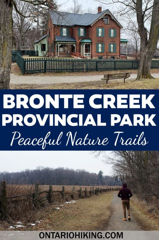 Bronte Creek Provincial Park is a wonderful place to go hiking in Oakville, Ontario, Canada. There are tons of peaceful nature trails through forests and across meadows with pretty views of the ravine.