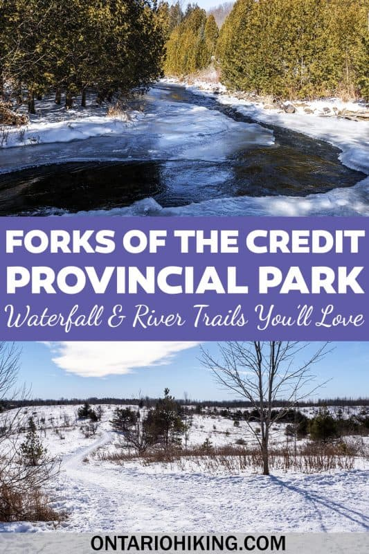 Forks of the Credit Provincial Park is an amazing place to go hiking near Toronto, and it's brilliant all year long. Here is what it's like to go hiking there in the winter. You can view a beautiful frozen waterfall and walk down by the snowy river.