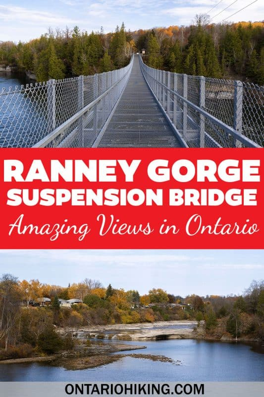The Ranney Gorge Suspension Bridge is an amazing and free place to go for a walk, plus there are incredible views all around! Here's how you can plan your visit to this awesome bridge in central Ontario, Canada.