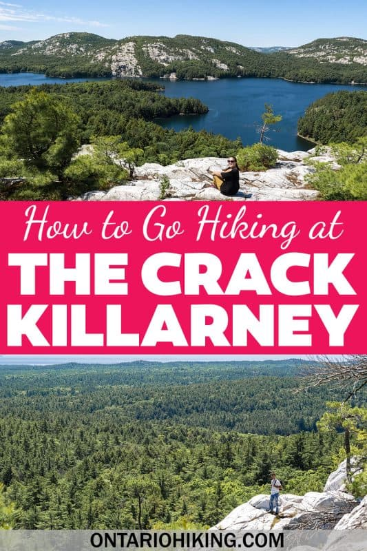 How to plan a hiking trip to the Crack in Killarney Provincial Park. The Crack is one of the best hiking trails in Ontario. It's an adventure to reach the top, and the views are outstanding!