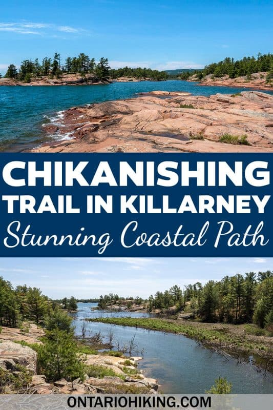 The Chikanishing Trail is an amazing hiking trail at Killarney Provincial Park, Ontario, Canada. It's a coastal rock across expansive pink granite rocks with incredible scenery all around.