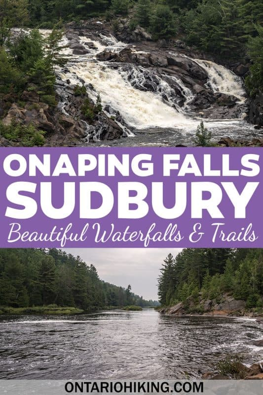 Onaping Falls is one of the most beautiful waterfalls in Ontario. You can go hiking at Onaping Falls and the A.Y. Jackson Lookout in Sudbury.